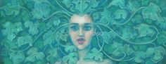 """""""Green Lady, pastel painting, fantasy art, green forest"""" by clipsocallipso   Redbubble"""