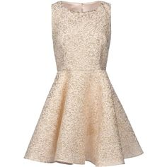 Dolce & Gabbana Short Dress (£480) ❤ liked on Polyvore featuring dresses, vestidos, short dresses, robes, gold, zip dress, zipper dress, pink dress and pink mini dress