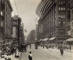 Washington Avenue west from just east of Sixth Street. (1906)