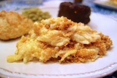 Lightened Up Cheesy Potato Casserole