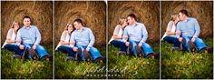 Morgan County Engagement Photography| Ashley + Garrett, hay, bales