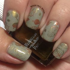 Fall nails featuring Elevation Polishes Ephemeral Sands SBP, Khan of Khans, The Latin of 4 Languages and Zhenjin