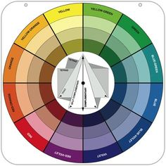 Color wheel for complementary color values.