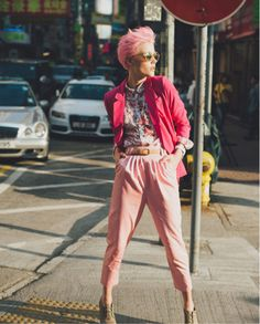 REVUUD: The Many Shades of Pink.   #pink #streetstyle #hongkong #cottoncandy