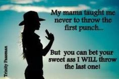 Throwing punches
