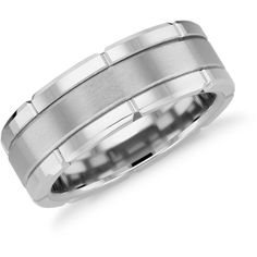 Blue Nile Link Wedding Band ($280) ❤ liked on Polyvore featuring men's fashion, men's jewelry, men's rings, mens wedding rings, mens white gold wedding rings, mens tungsten rings, mens tungsten wedding rings and mens diamond band wedding ring