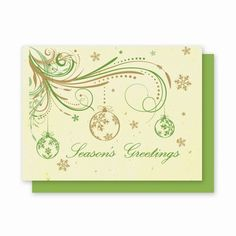 Grow-A-Note® Ornament Swirl - Green Field Paper Company plantable seed embedded holiday card