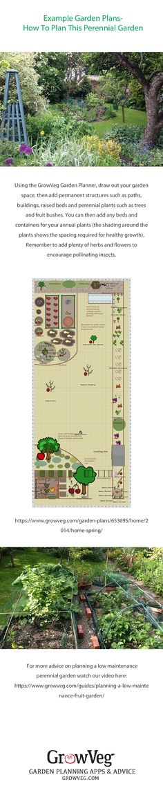The first in our real life garden series of plans and photos. Here is a perennial garden plan made using the Garden Planner from growveg.com. The perennial planting is chosen using the filter on the Garden Planner. Annual crops are planted in the sunniest spots and the both containers and pototo sacks are used to increase the planting area. As we have a number of fruit trees and bushes many flowers are added to attract and feed beneficial insects throughout the year.