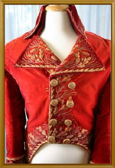 Red cutaway coat used as the Red Death Costume in Phantom of the Opera