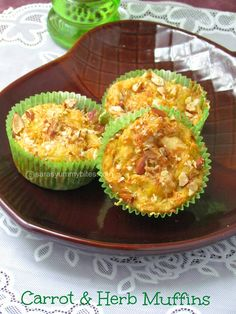 Eggless Carrot #herb #carrot #muffin #eggless