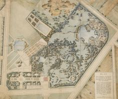 A plan of the Petit Trianon and its gardens, 1786, attributed to Richard Mique (1728-1794)