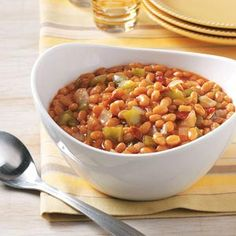 Labor Day Side Dish Recipes from Taste of Home, including Baked Beans with Bacon Recipe