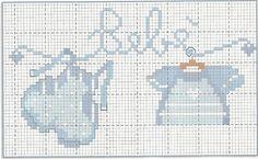 Bébé Small Cross Stitch, Cross Stitch Baby, Cross Stitch Charts, Cross Stitch Designs, Cross Stitch Patterns, Baby Embroidery, Cross Stitch Embroidery, Cross Stitch Tutorial, Baby Makes