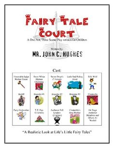 FAIRY TALE COURT! Cinderella, Snow White, and the Three Little Pigs are coming to court!  Fun play for children to perform. Best part is that the audience get to choose if the characters in each of the three scenes is guilty or innocent!   Classroom tested- Student Approved!  $10 one time cost and you can make copies for a single classroom! Check it out!