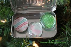 Magnets in a tin DYI Christmas gifts