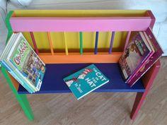 Kids rainbow bookcase :)