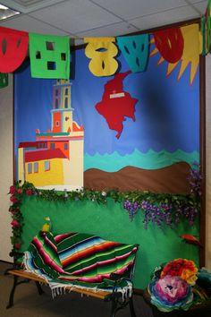 Tissue Paper Mexican Door Decoration Classroom Ideas