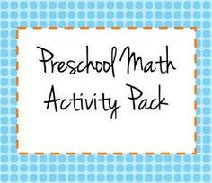 Preschool Math Mega Pack: 10 Printable Games