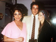 Elizabeth Taylor with Son Christopher Wilding and Aileen Getty, June ...