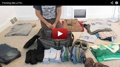 You never have to pay for excess luggage ever again. Watch this video and learn how to pack like a pro.