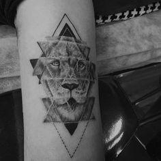 Geometric lion by Resul Odabas