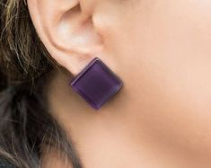 Modern Earrings, Minimalist Earrings, Colorful Jewelry by tofourfouri Minimalist Earrings, Modern Jewelry, Etsy Seller, Buy And Sell, Colorful, Creative, Handmade, Stuff To Buy, Hand Made