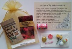 MOTHER OF THE BRIDE SURVIVAL KIT GIFT: Amazon.co.uk: Kitchen & Home