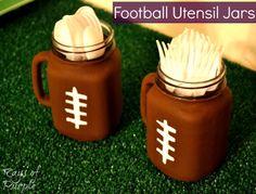 Football Inspired Utensils holders
