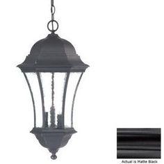 Acclaim Lighting�Waverly 23-1/2-in H Matte Black Outdoor Pendant Light