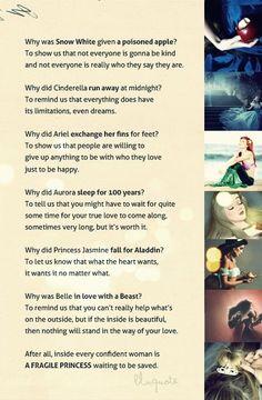 What Disney Princesses taught us