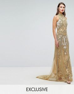 online shopping for A Star Is Born High Neck Maxi Dress With Allover Embellishment In Pattern from top store. See new offer for A Star Is Born High Neck Maxi Dress With Allover Embellishment In Pattern Gold Sequin Gown, Sequin Evening Dresses, Beaded Dresses, Nude Maxi Dresses, Women's Fashion Dresses, Dress Clothes For Women, Ladies Dresses, Star Wars, Asos Dress
