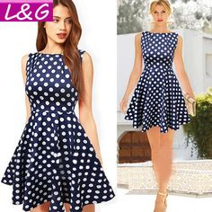 be605e52906 No Size. New Fashion Women Summer Dress 2014 Hot Selling Vintage Dot Party