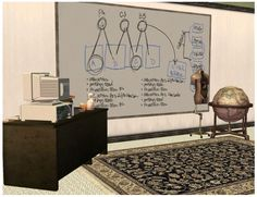 Six whiteboards (Maxis recolour).