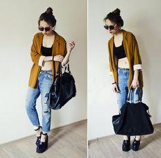 Zara Blazer, H&M Bag, Zara Jeans, Jeffrey Campbell Shoes