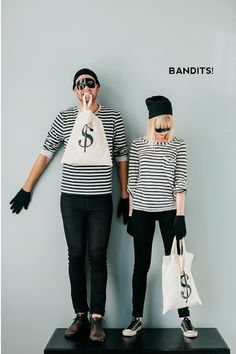 This will be Ed and myself this year. It too cute and man friendly not to do. Bandits! Easy and Last Minute Couples Costumes Pt. 1 | Say Yes to Hoboken