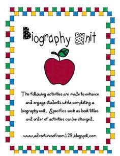 biography unit freebie