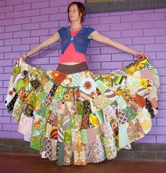 Patchwork Skirt... Looks gorgeous!!!!