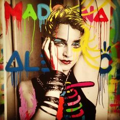@Madonna x @RichardCorman x @alecmonopoly #photograph #collabo #alecmonopoly #streetart - @alecmonopoly- #webstagram