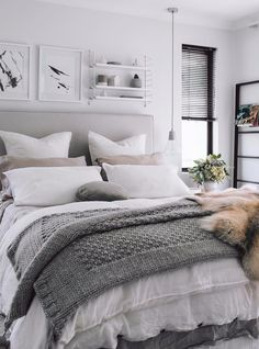 all neutral shades: bedroom design