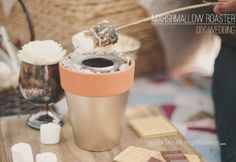 DIY Project: TABLETOP TERRA COTTA  MARSHMALLOW ROASTER by Stockroom Vintage | The Budget Savvy Bride