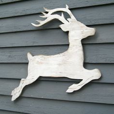 Rentier Weiße Weihnachten Dekorationen Holz von HavenAmerica