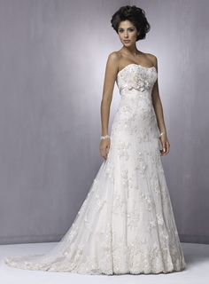 Gorgeous Sleeveless A-line Floor-length wedding dress $297.90