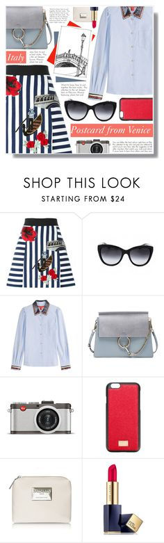 """""""SMARTBUYGLASSES contest"""" by becky12 ❤ liked on Polyvore featuring Dolce&Gabbana, Chloé, Leica, Estée Lauder and smartbuyglasses"""