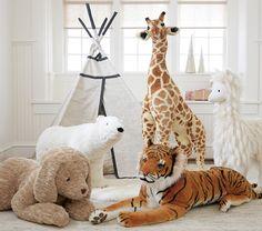 Giraffe Soft Toy For Nursery - Jumbo Giraffe Kids Stuffed Animal Animal Room, Animal Nursery, Nursery Rocker, Safari Nursery, Nursery Decor, Nursery Ideas, Giraffe Bedroom, Giraffe Stuffed Animal, Stuffed Animals