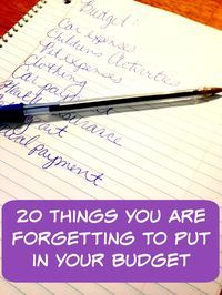 Things forgotten when making a budget - Finance tips, saving money, budgeting planner Financial Peace, Financial Tips, Financial Planning, Financial Binder, Financial Literacy, Budgeting Finances, Budgeting Tips, Budgeting Worksheets, Making A Budget