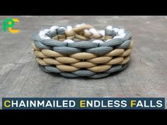 Chainmailed Endless Falls Paracord Bracelet without buckle - YouTube