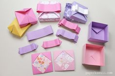 Origami Gift Box - Mix & Match Lids - Learn how to make a pretty origami gift box