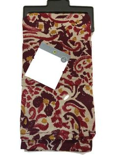 Threshold Napkin Cotton Set 2 Burgundy Floral Christmas Holiday Poinsettia New #Threshold