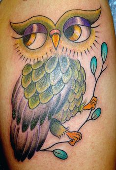 Owl tattoo, while I would never get one, I think this one is really pretty and I like it, but then I am in love with owls