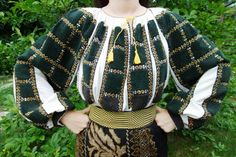 Popular Folk Embroidery Traditional Romanian ensemble from Muscel area (vintage) found on FB page: Costume Populare Vechi Folk Embroidery, Embroidery Stitches, Embroidery Ideas, Folk Costume, Costumes, Folk Clothing, Beautiful Paintings, Traditional Art, Romania